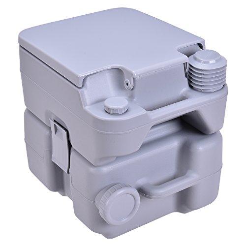 Giantex 5 Gallon Portable Toilet Flush Travel Outdoor