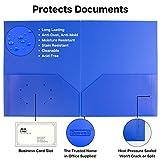 Colored Pocket Folders, 2-Pocket File Folders