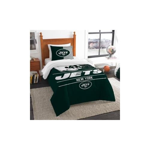 The Northwest Company NFL New York Jets Twin Comforter and Sham, One Size, Multicolor