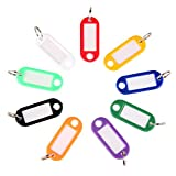 Pawfly Key ID Label Tags with Keyring, 40 Pack, Assorted Colors Split Keychain