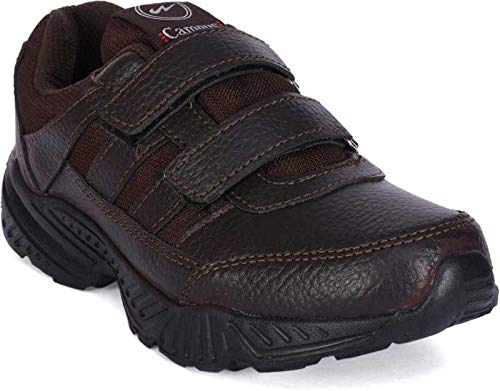 Campus Perfect Brown Mens Velcro Shoes