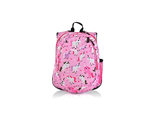 Girls Pink Unicorn Themed Pre School Backpack Cute Ponies...