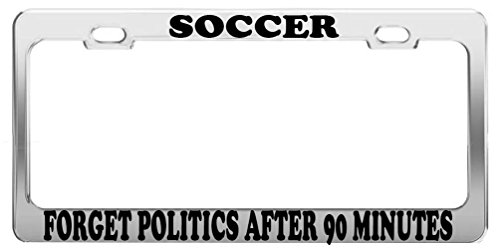 Guang trading SOCCER LICENSE PLATE FRAME CAR ACCESSORIES POSITIVE MESSAGE by Guang trading