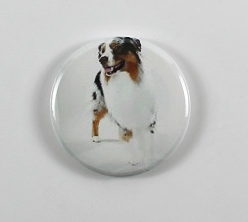 (Australian Shepherd (3) Pin Back Button)