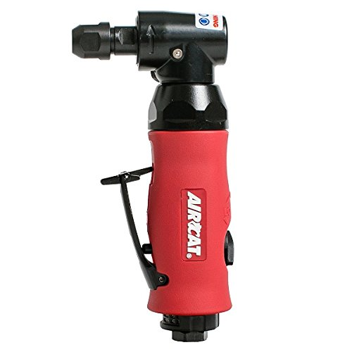 AIRCAT 6280 .7 Hp Composite Angle Die Grinder with Spindle Lock, Small, Red