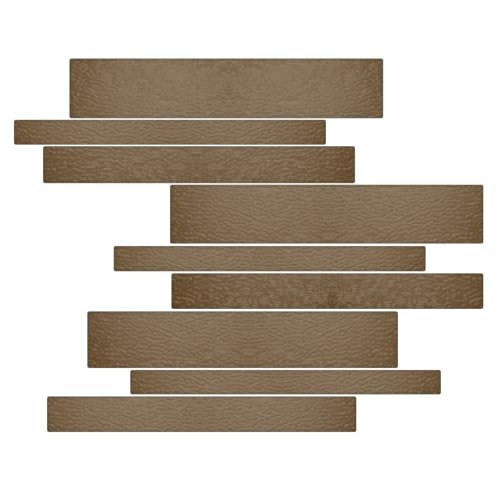 Glass Mist Flooring - Miseno MT-G1SMOK Horizontal Mosaic Wall Tile (10.92 SF/Carton)