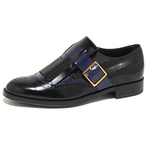 TOD'S nero donna scarpe Blu Nero allacciata scarpa women 9185N blu shoes qtFPEx4