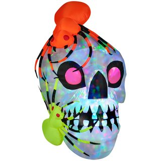 Gemmy Halloween Light Show Skull with -