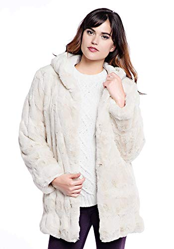 Donna Salyers' Fabulous Furs Women's Plus Size Faux Fur Fashion Hook Vest, Ivory, 3X -  14248 IVO-IVO-Ivory-3X