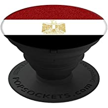 National Bling - Mobile Country Flag of Egypt Egyptian Glitter  PopSockets Stand for Smartphones and Tablets