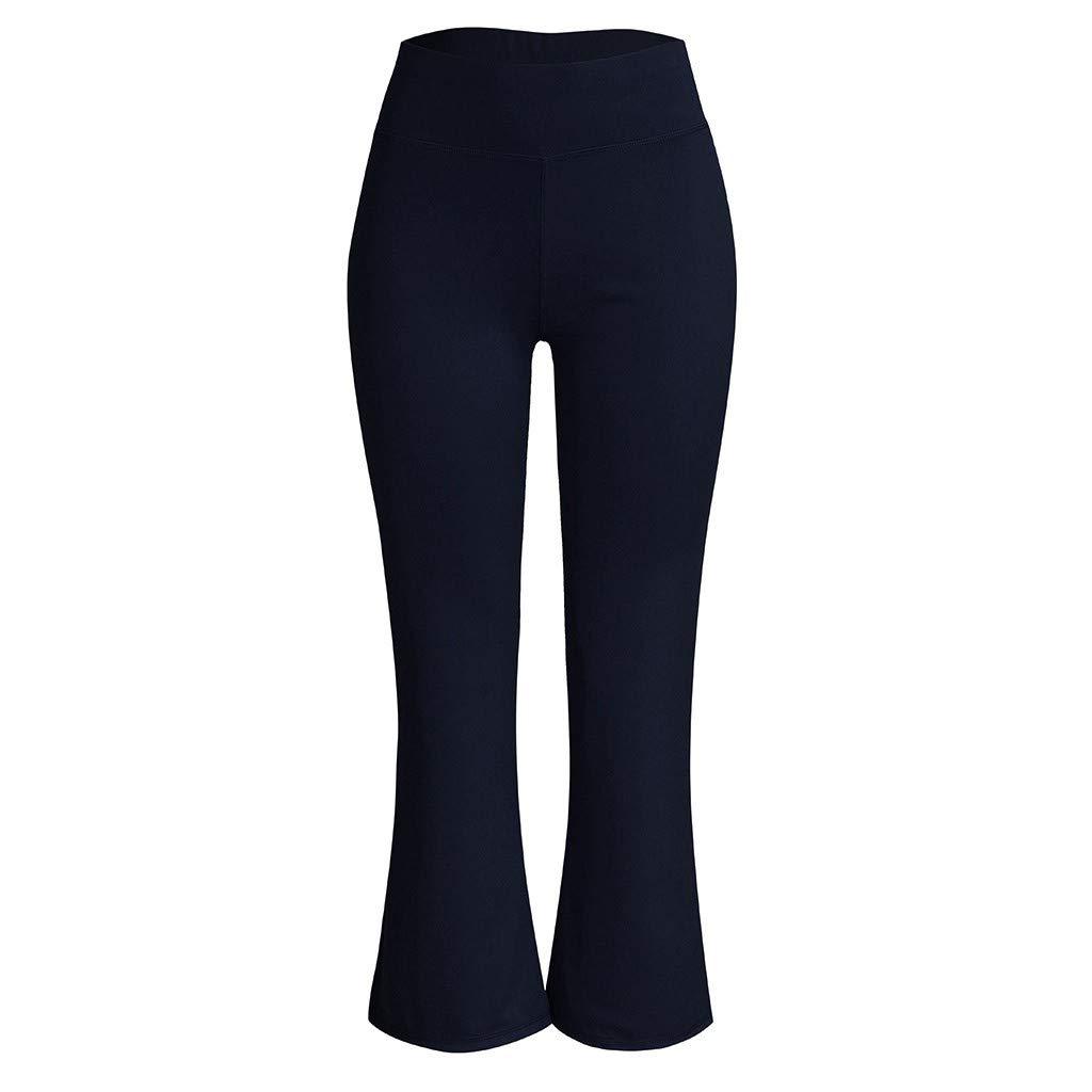 Leggings Mujer Pantalones SUNNSEAN El/ásticos Moda Pantalones de Yoga Mujer Fitness Mallas Gym Yoga Slim Fit Pants Largos Pantalones Leggings Cintura Alta Deportivos Running Jogging Pantalon