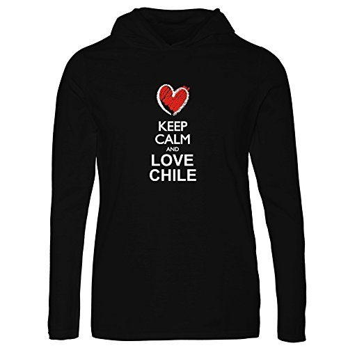 Idakoos - Keep calm and love Chile chalk style - Countries - Women Hooded Long Sleeve T-Shirt