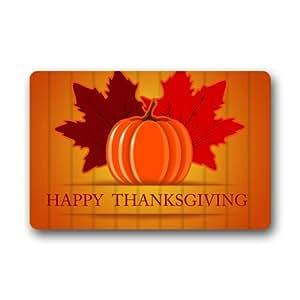 Happy Halloween Pumpkin Non-Slip Rubber Door mat Floor Doormats 18 x 30 Inch