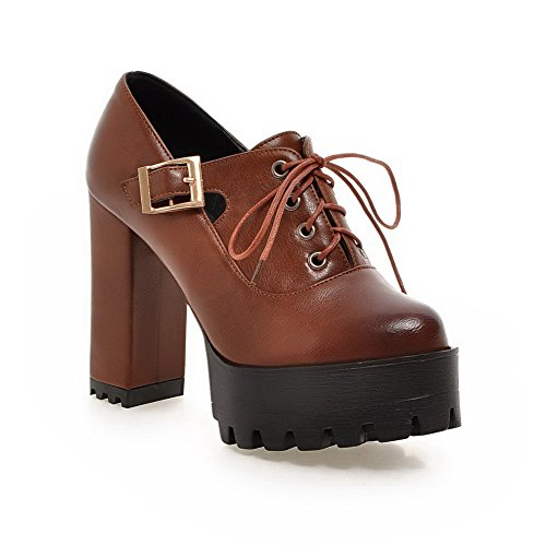 Balamasa Filles Boucle Solide En Cuir Imité Pompes-chaussures Jaune