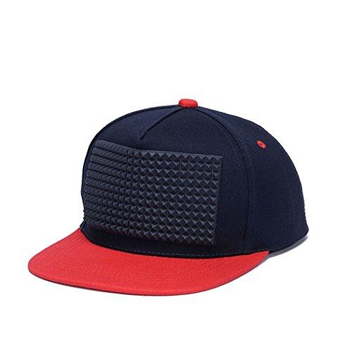 king-star-solid-flat-brim-hip-hop-snapback-adjustable-baseball-cap-black-red