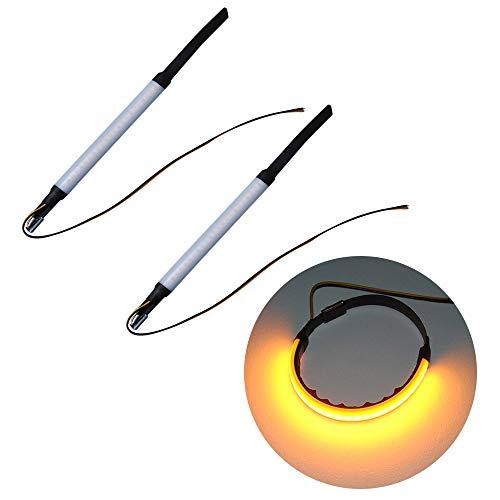 Leslaur 2Pcs Motorcycle Front Fork LED Strip Turn Signal Indicator Light Ring Steering Lamp: