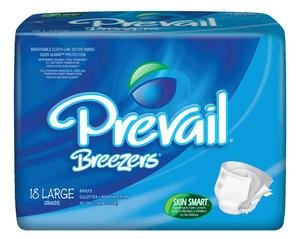 Prevail Pull (Prevail Breezers Ultimate Absorbency Incontinence Briefs Large 18 Count (Pack of 4) Breathable Rapid Absorption Discreet Comfort Fit Adult Diapers)