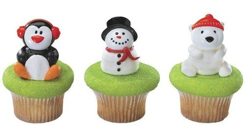 Christmas Party Holiday Friends Cupcake Rings Cake Toppers Favors 12 by DecoPac