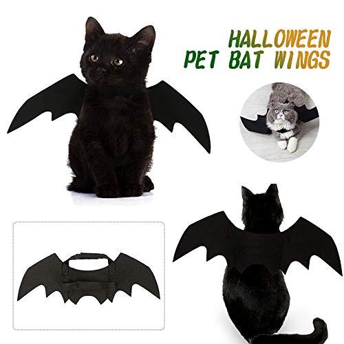 Aprettysunny Pet Dress Wing Cat Costume Creative Black
