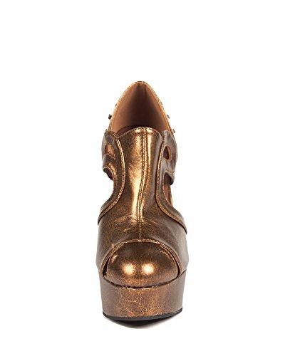 Hades Footwear H-catteau 5 Altura Con Sandalias De Plataforma Mezcla De Diseño Victoriano Marrón