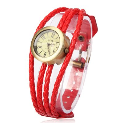 Fashion Leather Weaved Strap Quartz Watch Wrist Watch Premium Quality by GuiPing