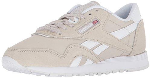 Reebok Women's CL Nylon Neutrals Sneaker, Sandstone/White, 7 M US