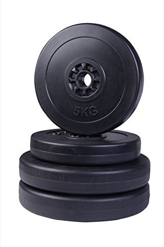 24 opinioni per HOMCOM- Set di 4 Dischi Pesi Manubri per Bilanciere Totale 30kg- 2x5kg e 2x10kg