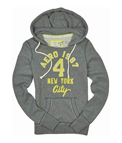 low priced 38d25 84c22 Aeropostale Womens # 4 Aero 1987 Hoodie Sweatshirt Mediumgray Xs - Juniors