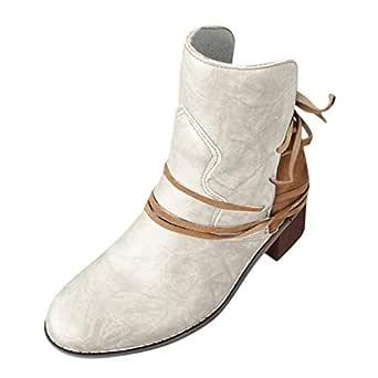Posional Botines Mujer Planos Sandalias Tacon 3.8Cm Zapatos ...