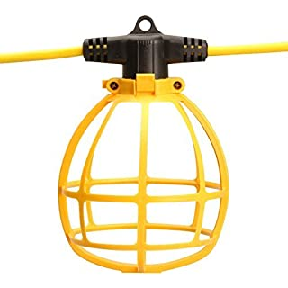 Southwire 7145SW Temporary String Light, 14/2 SJTW, 15-Amp Standard, Plastic Guard, Without Plug & Connector, 100-Foot,yellow