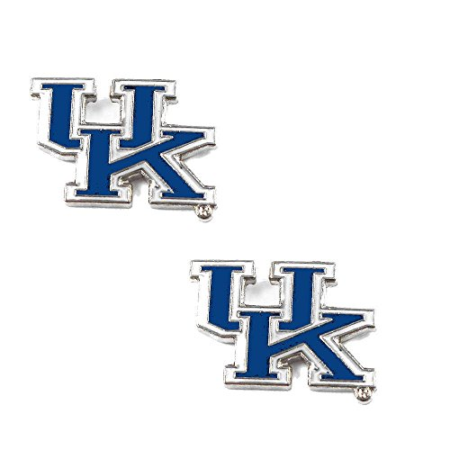 Licensed NCAA (UK) Kentucky Wildcats Team Logo And Colors Post Earring Set (Gift Box Included) Wildcats Team Post Earrings