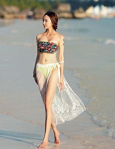 skt-swimwear Damen zudecken, solide Spitze weiß/schwarz