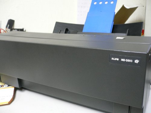 - ALPS MD-5000 Micro Dry Dyesub Decal Printer
