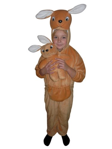 Fantasy World Kangaroo Halloween Costume f. Children/Boys/Girls, Size: 6, F29 - Pregnant Teenager Costume
