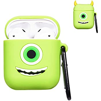 Amazon.com: Punswan 3D Mike Airpod Green Case for Apple