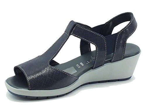 Cinzia Soft 8363 Blu - Sandalias de vestir de Piel para mujer Azul
