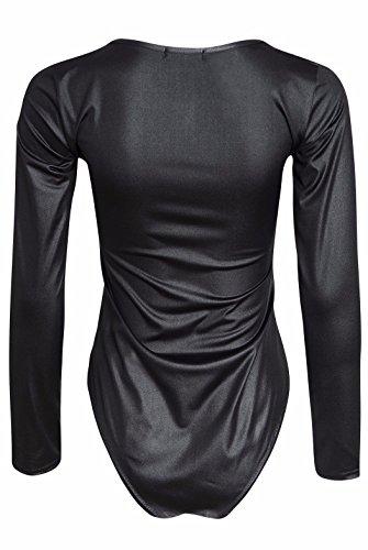 Of Fashion Da Bagnato Body Black In Donna Lunghe Xx Effetto Maniche large Pvc The Nero A Home 5BIqwqE