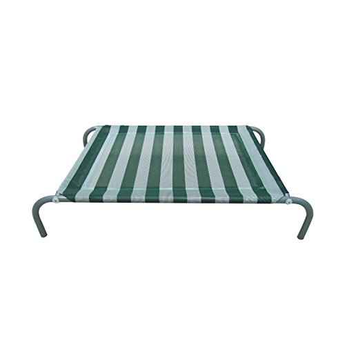 Allmax Elevated Pet Bed with Mesh Fabric and Steel Frame, Small, Green and White