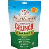 Stella & Chewy's Carnivore Crunch Duck, Duck Goose Dog & Cat Treats, 4-Ounce