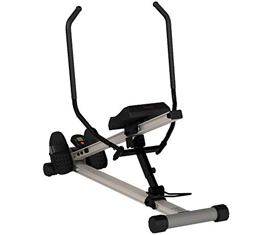 Sunny Health & Fitness Incline Full Motion Rowing Machine Rower with 350 lb Weight Capacity and LCD Monitor by Sunny Health & Fitness (Image #9)