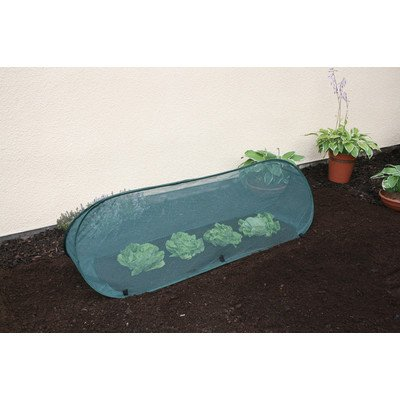 Single Pack - Medium - 1.25m x 0.5m x 0.5m - Garden Pop-up 4mm Netting Net Cloche Tunnel for Plant Protection from Pests GardenSkill