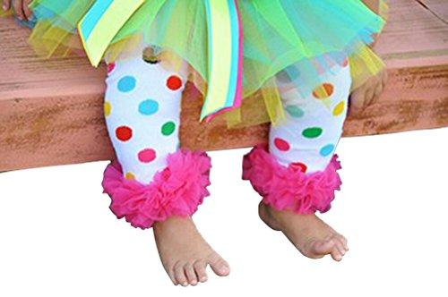 Ruffled Rainbow Polka Dot Legwarmers -