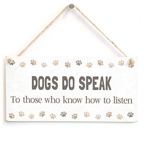 meijiafei perro hacer hablar a aquellos que saber cómo escuchar–Sweet Home señal de regalo de accesorios para dueños...