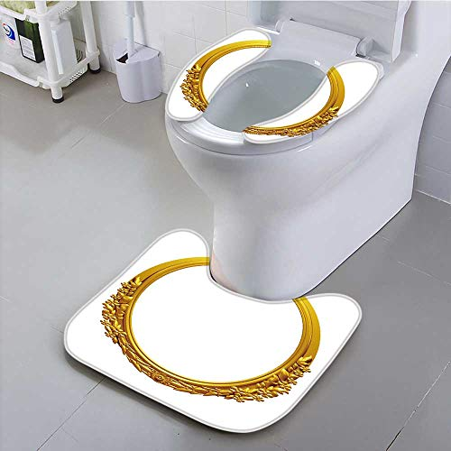 UHOO2018 Bathroom Household Rug gen Oval Frame with Ornaments in g for Pictures or Mirror Convenient disassembly by UHOO2018