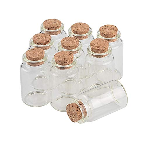 BeesClover 305017mm 20ml Transparent Glass Bottles with Cork Gift Jars Crafts 100pcs/lot Show