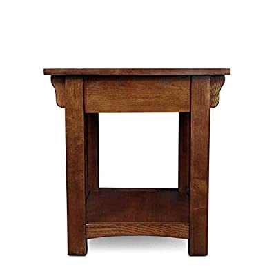 Leick Furniture Mission Drawer End Table, Medium Oak