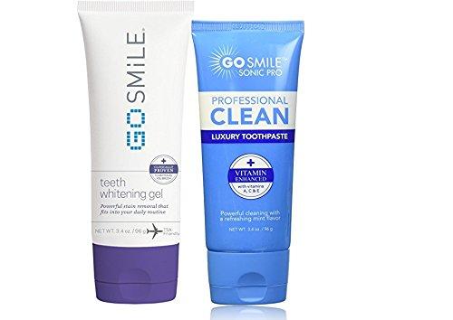 Go Smile Teeth Whitening Gel (3.4) & Go Smile Luxury Toothpaste, Mint (3.4oz)
