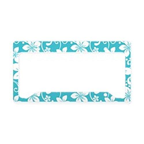 - CafePress Plumeria Blue Curacao License Plate Holder Aluminum License Plate Frame, License Tag Holder
