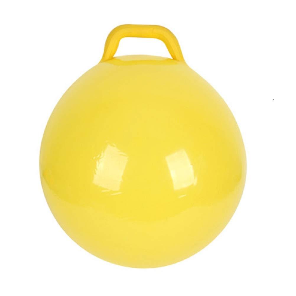 YeahiBaby 空気注入式ホッピングホッパーホップバウンシージャンプボール ハンドル付き 子供用 イエロー   B07MQJ7KGZ