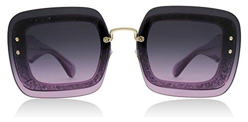 Miu Miu Women's 0MU 01RS Transparent Violet Glitter/Light Violet Gradient/Grey One Size